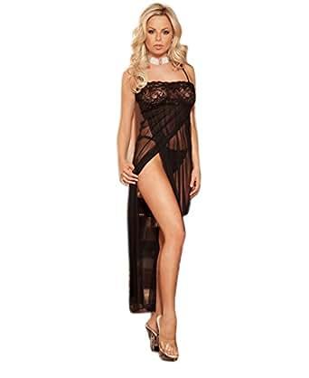 Sexy Erotik Negligee Nachthemd + G-String Spitze Reizwäsche Dessous S M L