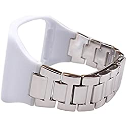 Kingko® Stainless Steel Metal Watch Band Wrist Strap Bracelet For Samsung Gear S SM-R750 (Slive)