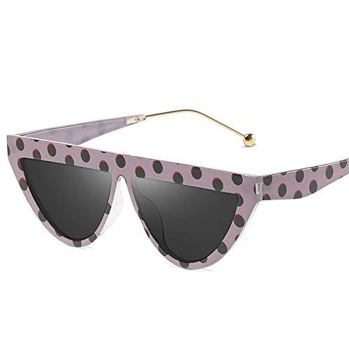 LAOBIAOZI Sonnenbrille Damen Luxury Brand Fashion Shades Damen Flat Top Sonnenbrille Vintage 2019 Eyewear UV400 (Lenses Color : C1)