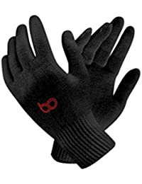 BO Unisex Reusable Washable Cotton Knitted Gloves Bundle (Black, Free Size) Pack of 20