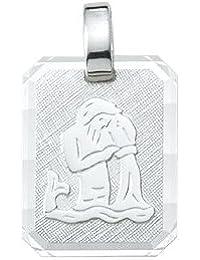 Silber 925 Sterling Silver Sternzeichen Anhänger - Wassermann - B. 12 mm - H. 14,9 mm
