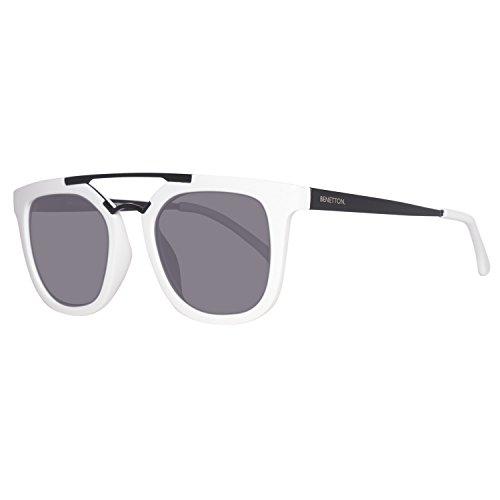 United Colors of Benetton Unisex-Erwachsene BE992S03 Sonnenbrille, Weiß (White/Black), 50