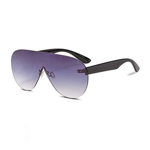 Taiyangcheng Polarisierte Sonnenbrille Übergroße Sonnenbrille Für Frauen Ozean Objektiv Gradienten Sonnenbrille Männer Weibliche Große Oversize Shield Randlose Uv400,schwarz
