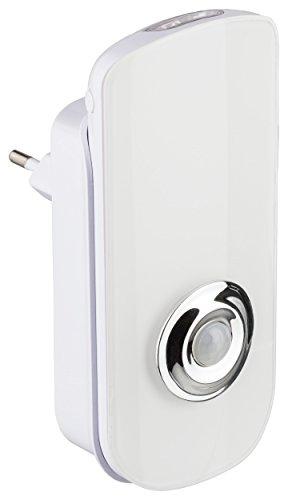 MÜLLER-LICHT LED Nachtlicht für die Steckdose inklusiv mobiler Taschenlampe mit Dämmerungssensor, 7000 K (Lichtfarbe weiß), Plastik, 1.6 W, 13.3 x 6.3 x 8 cm 1,6 X-sensor
