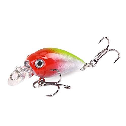 Oneriverspring40 Angelrute 4,5 cm 4,2 g Fischköder Artificial Crank harten Köder Topwater Fischen Wobbler Japan Fischköder (Farbe : E)