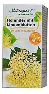 Holunder- und Lindenblüten Lutschtabletten, beseitigen Rachenentzündung, mildern Reizung und Halsschmerzen, 30 Tabletten, erkältungsmittel, erkältungsbalsam, globuli, erkältung, wie gurgellösung