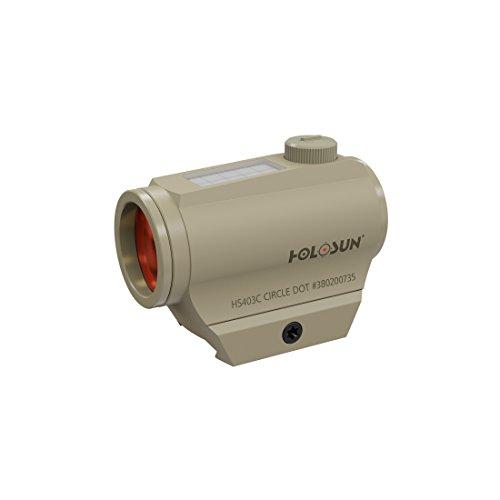 Holosun HS403C-FDE Microdot Rotpunkt Visier mit 2MOA Punkt Absehen und Solarzelle, FDE, Picatinny/Weaver Schiene, für die Jagd, Sportschießen und Softair, Tactical Micro red dot Sight - 70133738