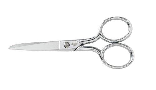 Fiskars Stahl Messer Rand Nähen Schere 4-Zoll, W/Leder Etui -