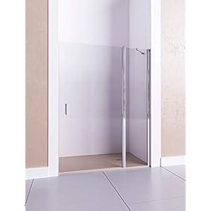 Modelo CIRCE – Mampara de ducha frontal de 1 hoja fija y 1 puerta abatible – Cristal 6 mm con ANTICAL INCLUIDO
