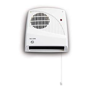 Glen GDF20E Downflow Bathroom Heater, White