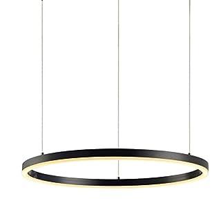 s.LUCE Ring L LED-Hängelampe Dimmbar Ø 80cm Schwarz LED-Ringleuchte LED-Ringlampe LED-Hängeleuchte Ring-Pendelleuchte Designleuchte Designlampe