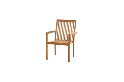 Ploß Outdoor furniture Memphis Fauteuil empilable Naturel, 60 x 61 x 91 cm