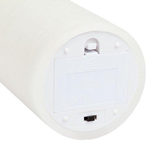 LuminalPark - Vela LED cera natural acabado rústico h. 12,5 cm. con efecto llama y temporizador para Decoración de Interiores e Iluminación de Eventos