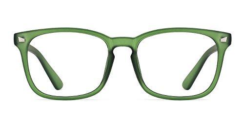 TIJN Klassische Nerdbrille Brille Ohne Sehstärke Polarisierte Sonnenbrille Damen Herren Optische Brillen Nicht Verschreibungspflichtige
