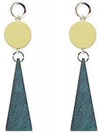 8f219c8b1d24 ZRDMN stud pendientes colgantes joyería de gota para el oído para las  mujeres Moda europea y americana El colgante largo geométrico…