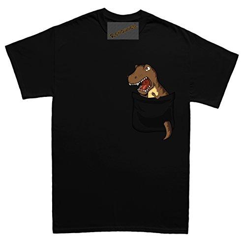 Renowned Scary Dinoaur tyrannosaurus rex in my pocket Unisex - Kinder T Shirt Schwarz