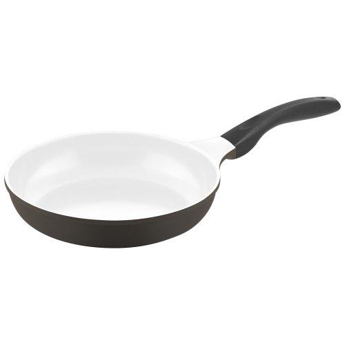 Culinario 051562 Bratpfanne ø 24 cm mit Induktionsboden, grau/weiß (Monkey Keramik)
