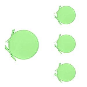 LAAT 4pcs Stuhlkissen Outdoor Sitzkissen Runde Aus Polyester Geeignet für Haus oder Garten Verfügbar in Einer Vielzahl von Stilen