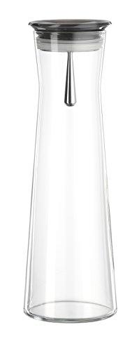 """Bohemia Cristal 093 006 105 SIMAX Karaffe ca. 1100 ml aus hitzebeständigem Borosilikatglas mit praktischem Ausgießer aus Kunststoff smoke """"Indis"""""""