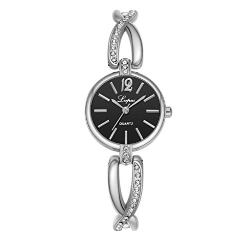 VECOLE Damenuhren Geschenk für Frauen Mode Klein und fein Mit Diamanten Armbanduhr Quarz Analoganzeige Uhr(D) - Ebel Diamanten Uhren Damen