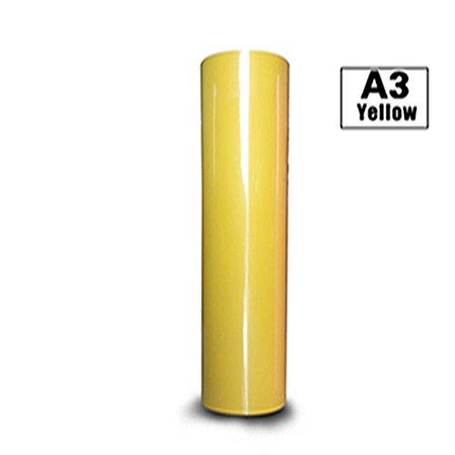 Hoho transfert de chaleur en vinyle HTV pour t-shirts 30,5cm par 30,5cm (Jaune)