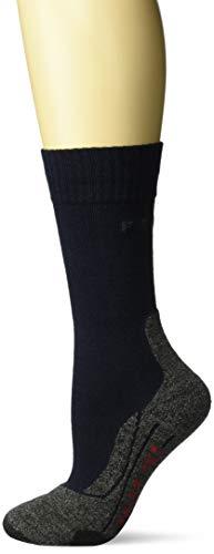 FALKE TK2 Damen Trekkingsocken / Wandersocken - blau, Gr. 39-40, 1 Paar, extra starke Polsterung, Merinowolle, feuchtigkeitsregulierend