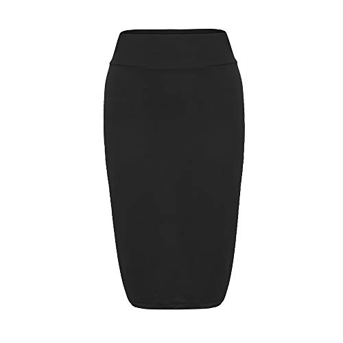 Lenfesh Falda Mujer Ajustado Moda Básica Multifuncional Corto Falda Elástica Vestido Oficina Fiesta de Mujer