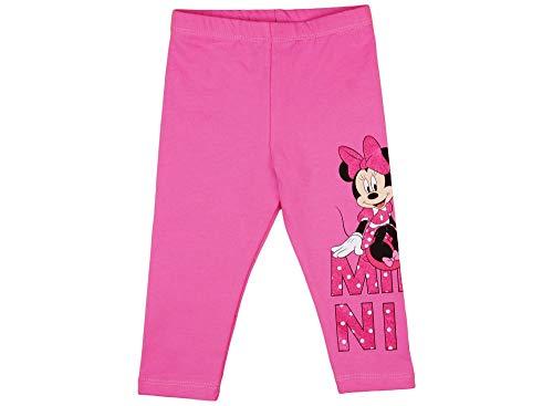 (Minnie Mouse Mädchen-Baby-Thermo-Leggings dick WARM und kuschelig, in Rosa, in Grösse 74 80 86 92 98 104 110 116 Baumwolle für Herbst und Winter Thermo-Hose von Disney lang Größe 104)