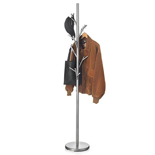 IDIMEX Kleiderständer Garderobenständer Kleiderstange Garderobe ZENO Metall grau lackiert