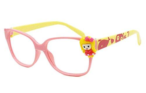 Netter rosa und gelbe Kinder Brillengestelle ohne Objektiv