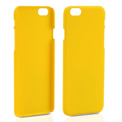iPhone 6 6S (4,7 Zoll) dünne Hard-Case Hülle | Cover | Schutzhülle | Backcover | in matt Design | Weiss für iPhone6 iPhone6S | - Naruba Media (Hard Case Weiss) Hard Case Gelb