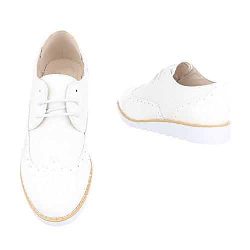 Ital-Design , Chaussures à lacets femme Weiß 62036
