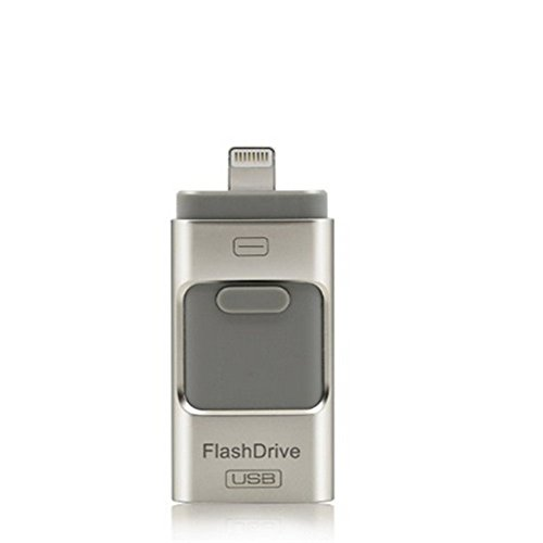 Chiavetta USB per iPhone, Flash Drive USB, i-Flash u-Disc, memory stick, pen drive per iPhone e iPad, cellulari Android e computer Silver 16G