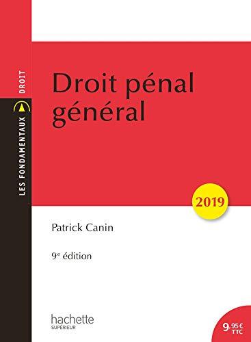 Droit pénal général 2019 (9e édition) par Patrick Canin