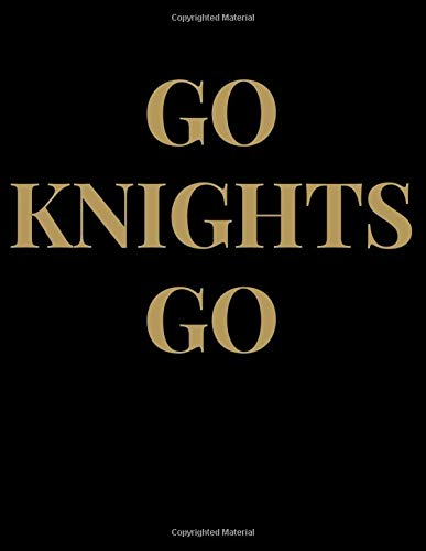 "Go Knights Go: Notebook (8.5"" X 11"") Gift for Hockey Fans of the Vegas Golden Knights (VGK)"