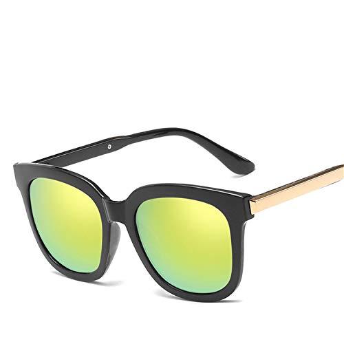 Daawqee Prämie Sonnenbrillen,Brillen,NEW Square Sunglasses Women Coating Mirror Lady Sunglass Female Sun Glasses For Women Eyewear Oculos De Sol Gold
