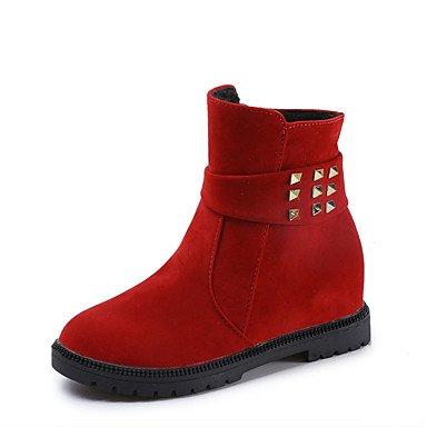 RTRY Scarpe Donna Pu Autunno Inverno Moda Bootie Stivali Stivali Tacco  Piatto Round Toe Stivaletti/