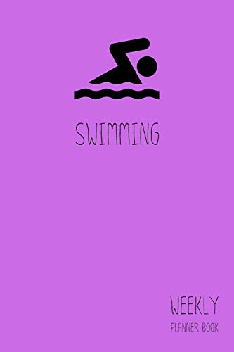 Swimming Weekly Planner Book: Classic Purple 6x9