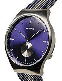 Bering Time 70142–809Herren Smart Traveler Collection Uhr mit Mesh Band und kratzfest Saphirglas. Entworfen in Dänemark.