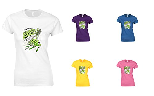 Brand88 - Daryl Dixon's Haunted Woods, Ladies Printed T-Shirt