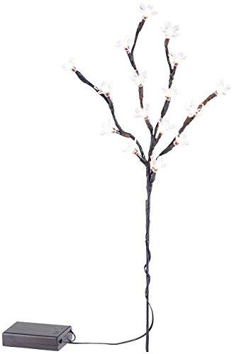 Lunartec LED Zweige: LED-Lichterzweig mit 16 leuchtenden Blüten, 44 cm, batteriebetrieben (Blütenzweige mit Beleuchtung) -