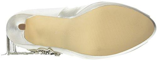 Menbur Wedding - Henares, Scarpe col tacco Donna Bianco (Elfenbein (Ivory))