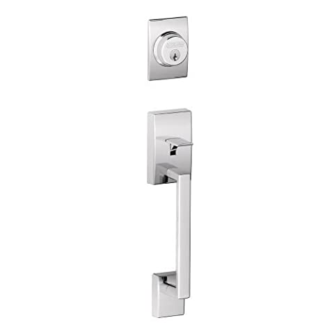 Schlage F92-CEN Century Dummy Exterior Handleset from the F-Series, Polished