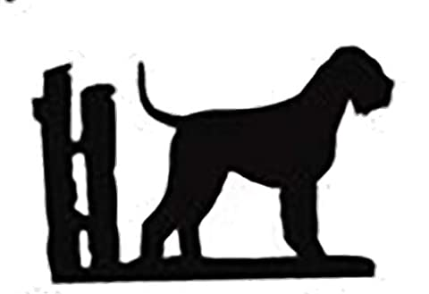 Les amateurs de schnauzer Cadeau–Key Rack–Ferronnerie Silhouette en forme de chien Clé Rack–Unique de qualité fabriqué à la main 3crochets Clé/Laisse Rack