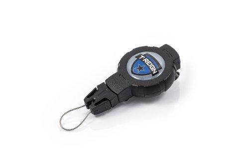 T-Reign Gear & Tethers Cases Halteklammer, einziehbar, mit Clip schwarz Schwarz x-Large