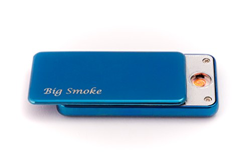 Big Smoke USB Elektro Feuerzeug Coil Lighter Blau