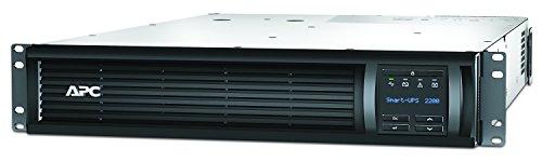 APC Smart-UPS SMT - Unterbrechungsfreie Stromversorgung 2.200VA Rackmodell 2U - SMT2200RMI2U - Line Interactive, AVR, LCD Display, 8 Ausgänge IEC-C13, Shutdown Software -