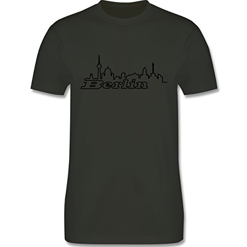 Skyline - Berlin Skyline - Herren Premium T-Shirt Army Grün