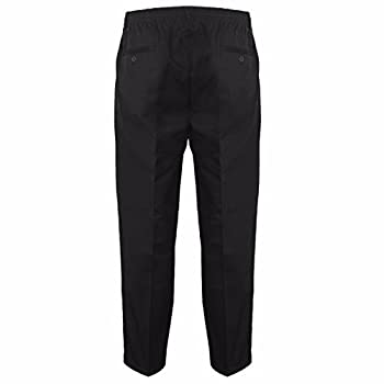 Myshoestore Mens Smart Rugby Trousers Fully Elasticated Stretch Waist Band With Draw Cord Comfortable Fit Workwear Bottoms Straight Leg Casual Formal Work Pants Size 30-48 2