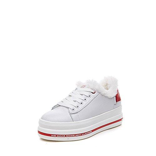 Chaussures à semelles épaisses chaussures SpongeBob étudiants coréens au chaud et ajouter des chaussures d'hiver en cachemire